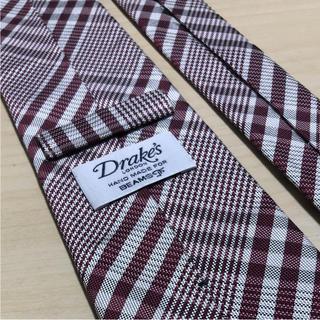 ドレイクス(DRAKES)のDrake's × BEAMS F チェック ネクタイ美品(ネクタイ)