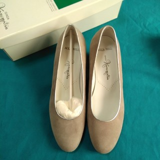 ギンザカネマツ(GINZA Kanematsu)の値下げOK 銀座かねまつ 靴21 1/2 AQUABELL グレースエード(ハイヒール/パンプス)