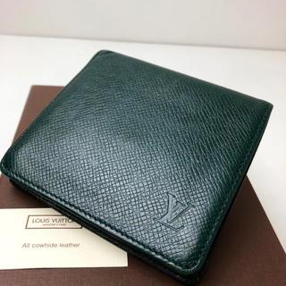 ルイヴィトン(LOUIS VUITTON)の正規品 タグ付 ルイヴィトン 美品 タイガ 2つ折財布(折り財布)