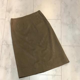 デプレ(DES PRES)のトゥモローランド デプレ  エコスエード  タイトスカート  サイズ1(ひざ丈スカート)