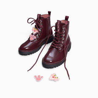 ザラ(ZARA)のzara  ブーツ 新品未使用 24.5 ピンクパンサー  38(ブーツ)