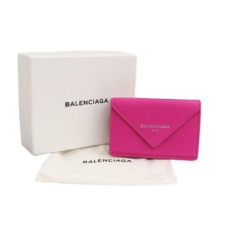 バレンシアガ(Balenciaga)のBALENCIAGA ペーパー ミニウォレット 三つ折り財布 ピンク A0453(財布)