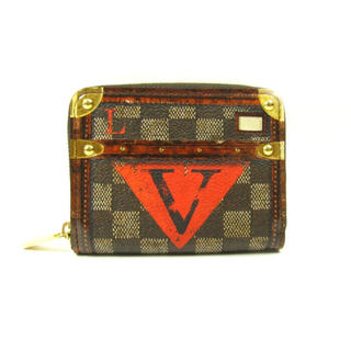 ルイヴィトン(LOUIS VUITTON)のルイヴィトン ダミエ トランクタイム(折り財布)