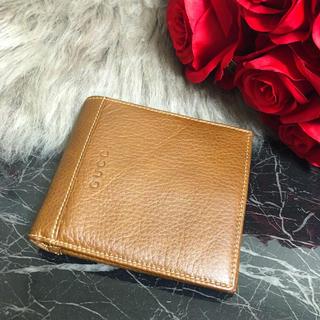 グッチ(Gucci)のGUCCI グッチ レザー 二つ折り財布 メンズ(折り財布)