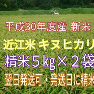 琵琶湖のメグミ☆H30年 新米☆近江米 キヌヒカリ☆精米5kg×2