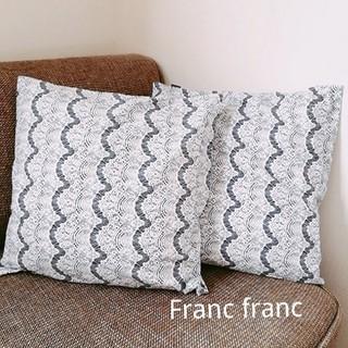 Francfranc - ネイビーレース クッションカバー2点 Franc franc