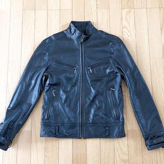 SCHAFFEN ラクダ革レザージャケット シングルライダース ブラック アメ横(ライダースジャケット)