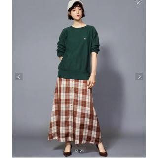 ビューティアンドユースユナイテッドアローズ(BEAUTY&YOUTH UNITED ARROWS)のBY キュプラチェックフロントボタンマキシスカート(ロングスカート)
