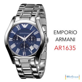 エンポリオアルマーニ(Emporio Armani)のエンポリオアルマーニ AR1635 シルバー×ブルー メンズ腕時計 新品未使用(腕時計(アナログ))