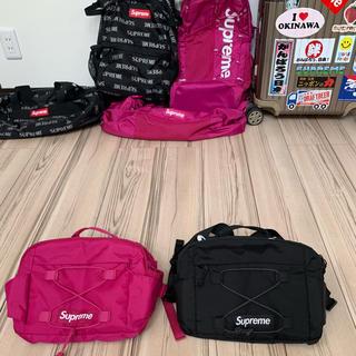 シュプリーム(Supreme)のシュプリーム  17SS Waist Bag マゼンタ ブラック セット(ウエストポーチ)