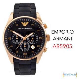 エンポリオアルマーニ(Emporio Armani)のエンポリオアルマーニ AR5905 ローズ×ブラック ラバーベルト 新品未使用(腕時計(アナログ))