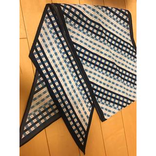 エーエヌエー(ゼンニッポンクウユ)(ANA(全日本空輸))の全日空 非売品 スカーフ ブルー(バンダナ/スカーフ)
