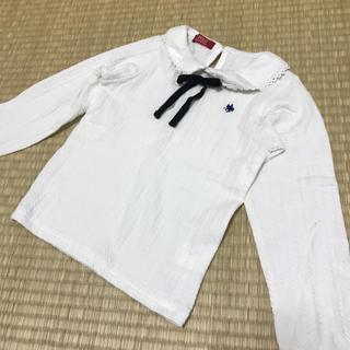 シマムラ(しまむら)のPOLO オシャレ着 ホワイト 110cm(Tシャツ/カットソー)