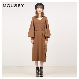 moussy - MOUSSY ◇ BELTED KNIT ドレス