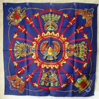 エルメス(Hermes)のHERMES エルメス 極美品スカーフ カレ 90 Catyスカラベ柄 マフラー(バンダナ/スカーフ)