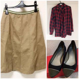 アズノウアズ(AS KNOW AS)のセット コーデ売り 3点セット パンプス、チェックシャツ、スカート(セット/コーデ)
