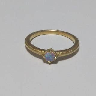 Hariqua ハリックァ K18  オパール ピンキー リング 10月 誕生石(リング(指輪))