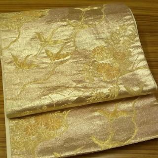 正絹袋帯 金色(帯)