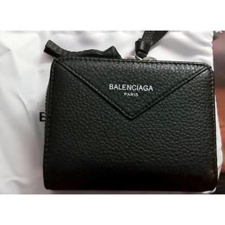 バレンシアガ(Balenciaga)のBALENCIAGA バレンシアガ財布 短サイフ ブラック財布 小銭入れあり(折り財布)