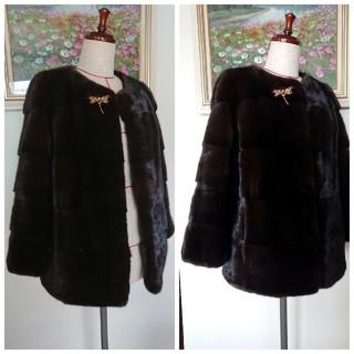 ◆高級ミンクコート◆ショート◆美品(毛皮/ファーコート)
