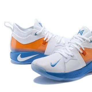 ナイキ(NIKE)のNike Paul Gerge II White Blue Orange  (ブーツ)