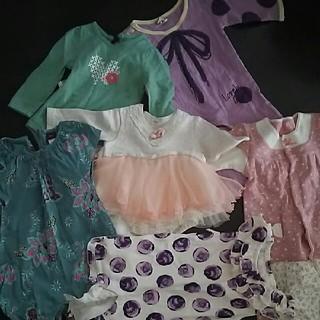 キッズズー(kid's zoo)の 子供服 女の子 まとめ売り8枚セット  サイズ 60 〜70 (ロンパース)