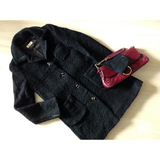 ドゥーズィエムクラス(DEUXIEME CLASSE)のDeuxieme Classe ドゥーズィエム クラス 毛足が可愛い コート 黒(ロングコート)