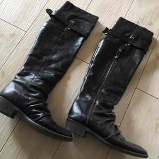 アトリエブルージュ(atelier brugge)のアトリエブルージュ  リブニットロングブーツ(ブーツ)