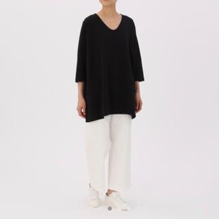 MUJI (無印良品) - 綿入り二重編み七分丈チュニック 無印良品