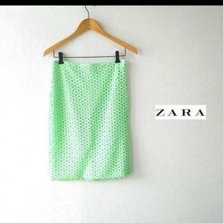 ザラ(ZARA)のZARA 刺繍入り タイトスカート  スカート(ひざ丈スカート)