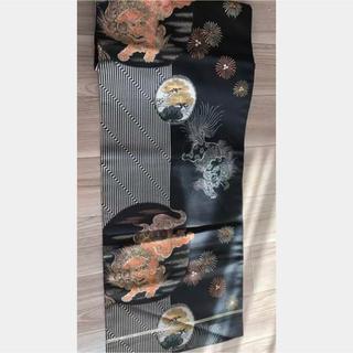 アンティーク 貴重な柄 唐獅子牡丹 名古屋帯 訪問着小紋着物 舞妓芸者花魁極妻(帯)