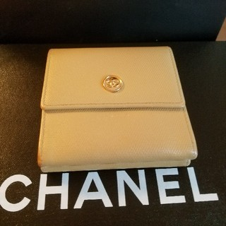 シャネル(CHANEL)のシャネル♡折り財布♡ベージュ(折り財布)