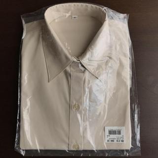 セシール(cecile)のCecile UVカットレギュラーカラーシャツ 半袖 ソフトベージュ(シャツ/ブラウス(半袖/袖なし))