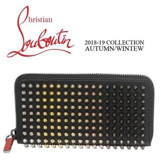クリスチャンルブタン(Christian Louboutin)のChristian Louboutinラウンドファスナーブラック長財布(財布)