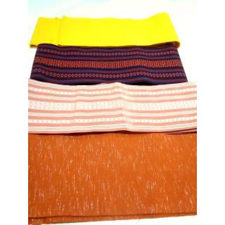 【半幅帯】 4本 セット正絹 博多織 ウール など KK50(帯)