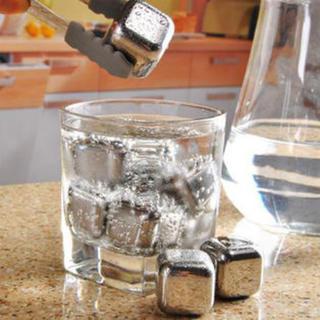 【新品・未使用】溶けない氷 アイスキューブ6個(保存袋付き)