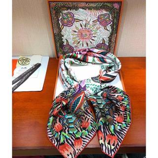 エルメス(Hermes)のエルメス スカーフ/シルクショール(南アフリカの花)(バンダナ/スカーフ)