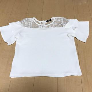 しまむら - ホワイトトップス/フリル