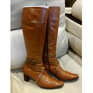 エレガンスヒミコ(elegance卑弥呼)のさゆりん様専用卑弥呼のキャメルロングブーツ 25センチ 美品(ブーツ)