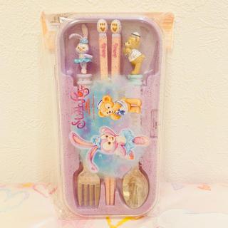 Disney - 香港♡ディズニー♡ダッフィー♡ステラルー♡スプーン♡フォーク♡箸♡カラトリー