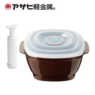 アサヒケイキンゾク(アサヒ軽金属)のアサヒ軽金属 真空おひつ[角] 真空ポンプ付  新品未使用 ①(容器)