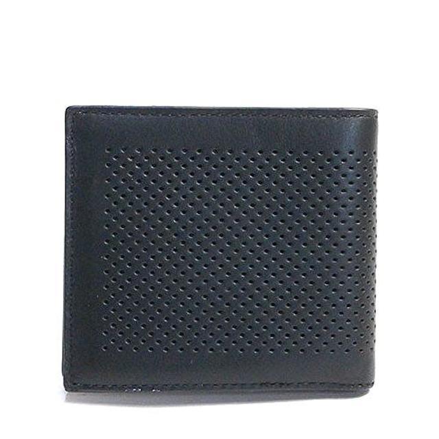 cheap for discount b8d35 0456b メンズ コーチ 二つ折り財布 パンチングレザーF75278 BLK