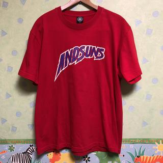 アンドサンズ(ANDSUNS)のアンドサンズ Tシャツ 赤 andsuns ストリート ヒップホップ 系(Tシャツ/カットソー(半袖/袖なし))