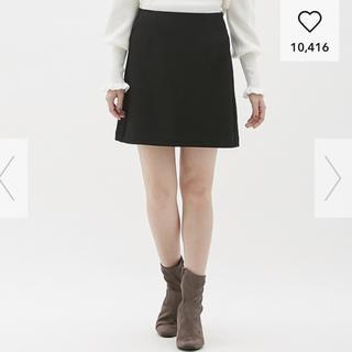 GU - ジーユー カラーミニスカート  ブラック Mサイズ
