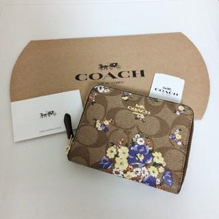 コーチ(COACH)の新品 最新モデル COACH 二つ折り財布 人気 フローラル シグネチャー(財布)