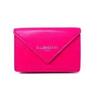 バレンシアガ(Balenciaga)の【バレンシアガ】 391446 ペーパー ミニウォレット ピンク(財布)