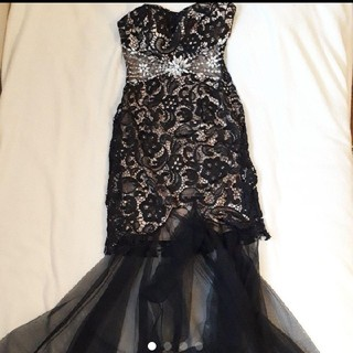 dazzy store - ベアレースロングドレス