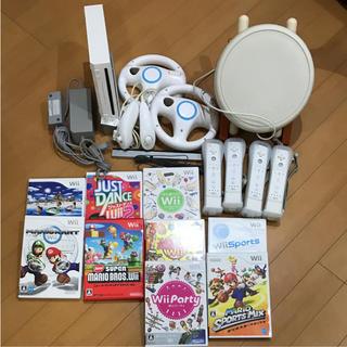 ウィー(Wii)のwill本体 マリオカートWii 太鼓の達人 セット!(家庭用ゲーム本体)