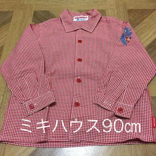 mikihouse - ☆ミキハウス☆ 赤のチェックシャツ