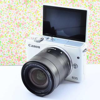 ✨自撮り & Wifi & ホワイト✨キャノン EOS M10 レンズセット(ミラーレス一眼)